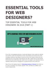 Web Designing Training In Chennai Top Essential Tools For Web Designers In 2018 Part 1