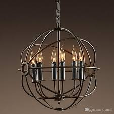 rh lighting restoration hardware vintage pendant lamp intended for incredible residence iron globe chandelier decor benita antique black