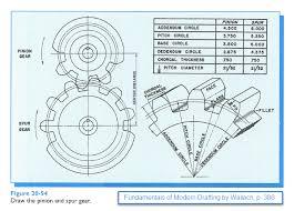 figure 1 0 fundamentals of modern drafting figure 20 54 draw the pinion