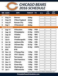 Chicago Bears Depth Chart 2018 7 Best Chicago Bears Schedule Images Chicago Bears