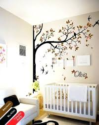 wall stickers tree nursery wall decal tree swallows and baby name baby room decor mural wall sticker white tree wall stickers