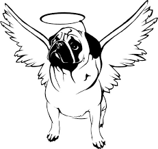 Small Picture Pug with Hallo on His Head Coloring Page Color Luna