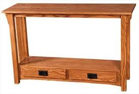 Small sofa table Solid Oak Prairie Mission Sofa Table Amish Oak Or Cherry Table Hardwoods Artsinheaven Amish Sofa Tables Arts In Heaven Ohio