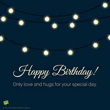 Birthday Wish For A Friend On Image With Celebration Lights And Quote
