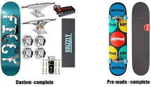 Skateboard Length And Width Chart Skateboard Buyers Guide Basement Skate