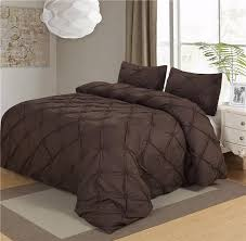 luxury bedding sets black white brown grey home textile pinch pleat 2 3pcs twin queen double