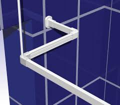 shower curtain rail support rod