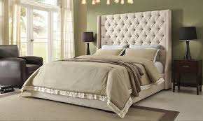 Alder Bed With Tufted High Headboard
