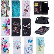 Luxury Flip Colorful Leather Case <b>For Coque Sony Xperia</b> XZ ...