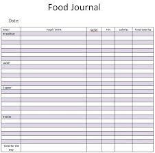 Sample Food Journal Template Food Journal Sample 5941 Food Journal Journal Template