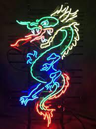 Neon Red Dragon Aesthetic Wallpaper ...