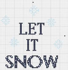 Let It Snow Chart The Posy Collection