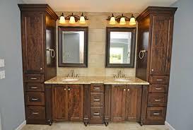 bathroom custom cabinets. Inspiring Custom Cabinets Bathroom With Double Sink