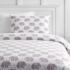 winter elephant flannel duvet cover sham