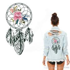 Dream Catcher Shirt Diy 100 Black Style Flowers Dreamcatcher Iron On Patches 100100100cm 70