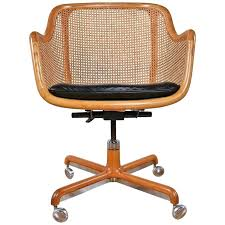 bamboo swivel chair mid century modern cane swivel desk chair by ward for rattan swivel rocker chair replacement cushions