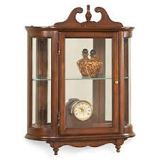 wall mounted curio cabinet. Image Is Loading WESTBROOKWALLMOUNTEDCURIOCABINET PLANTATIONCHERRYFINISH With Wall Mounted Curio Cabinet