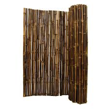 Backyard X-Scapes 1 in. D x 4 ft. H x 8 ft. W Black Rolled Bamboo Fencing-HDD-BF12BLACK  - The Home Depot