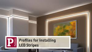 aluminium profiles for indirect lighting by led strips very easy to assemble you