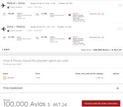 Award Booking With Avios Award Destinations