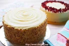 Carrot Cake With Cream Cheese Frosting Delishar Singapore