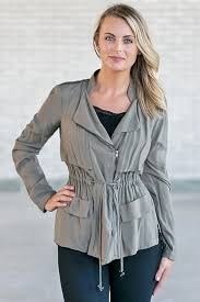 casually cool layered jacket in olive green