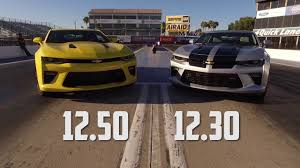 2016 Chevy Camaro SS Drag Test Auto vs Manual with Jeff Lutz at ...