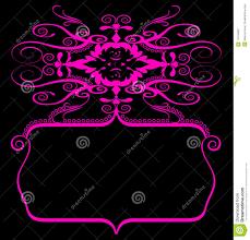 Pink Black Spiral Banner Stock Illustration Illustration Of Banner