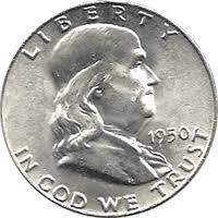 1950 Ben Franklin Half Dollar Value Cointrackers