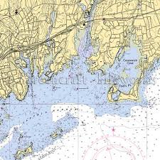 Connecticut Old Greenwich Tod S Point Nautical Chart Decor