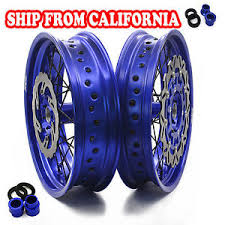 4 25 17 supermoto wheels rims set fits yamaha yz250f 2001 yz450f
