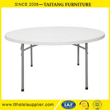 china whole 5ft 60inch round plastic folding dining table for events wedding banquet party barbecue camping picnic catering