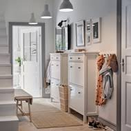 hallway furniture ikea. A White Hallway With Two Traditional HEMNES Shoe Cabinets Side By And Row Furniture Ikea