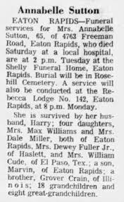 Annabelle Sutton obituary - Newspapers.com