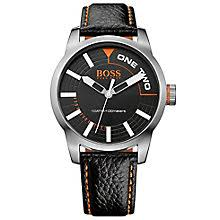 hugo boss watches boss orange watches for men h samuel hugo boss orange men s stainless steel black leather watch product number 2922657