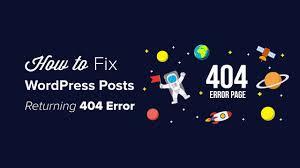 Wordpress 404 Page Design How To Fix Wordpress Posts Returning 404 Error