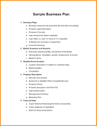 Business Plans Plan Cover Page Template Doc Letter Apa Format Ample