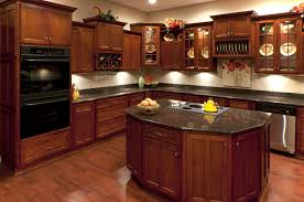Cherry Wood Kitchen Cabinets Dark Red Cherry Kitchen Cabinets Quicuacom