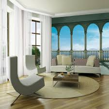 1 Wall Giant Wallpaper Mural Columns Panoramic Sea View 3.15m X 2.32m