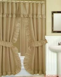 burgundy shower curtain sets. double-swag-shower-curtain-with-liner-set-taupe- burgundy shower curtain sets e