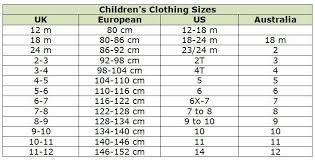 4 by 6 photo size clothing size conversion charts