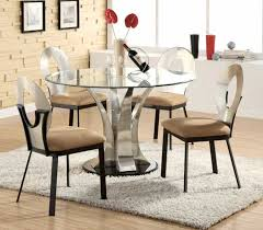 appealing round glass dining table set for 6 bedroom concept of modern dining table set