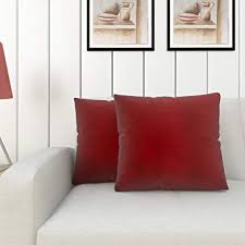 Buy Home Centre Luxur Solid Filled <b>Cushion Set</b>- <b>2 Pcs</b> (40x40 cm ...