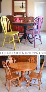 Colorful Kitchen Colorful Kitchen Table Makeover Dream A Little Bigger