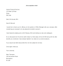 Letter Of Acceptance For Job 8 Sample Accepting Interview