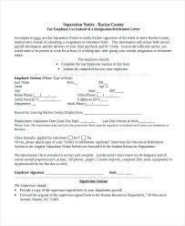 Collection Of Solutions For Employee Separation Notice Template On ...