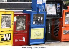 Newspaper Vending Machine Locations Custom Row Of Newspaper Vending Machines Stock Photo 48 Alamy