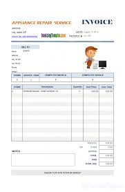 Service Invoice Template Excel Fascinating Service Invoice Template Download Massage Therapy Appliance R