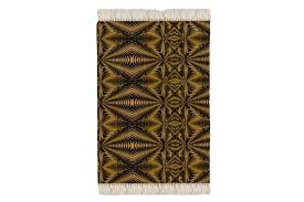 floor rug black and gold zebra print design photo 1
