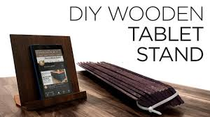 how to make a wooden tablet stand woodworking 31
